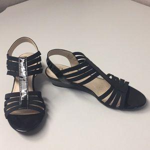 Black sandals sz 9